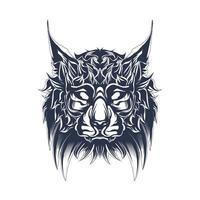 gatto inchiostrazione illustrazione grafica vettore