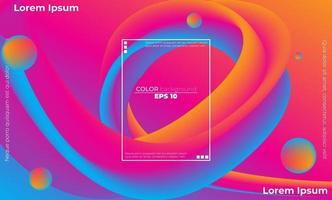 carta da parati geometrica creativa. composizione di forme sfumate alla moda vettore