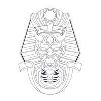 illustrazione disegnata a mano di vettore di satana egitto