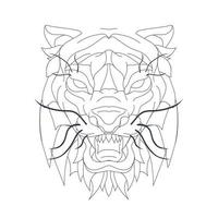illustrazione disegnata a mano di vettore della tigre
