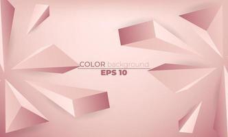Carta da parati geometrica creativa modello 3d. composizione di forme sfumate alla moda vettore