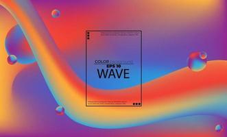 modello astratto di colore fluido di sfondo sfumato liquido colorato con stile di movimento dinamico geometrico moderno adatto per carta da parati, banner, sfondo, carta, illustrazione di libri, pagina di destinazione, vettore