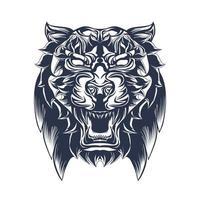 opera d'arte illustrazione inchiostrazione tigre vettore