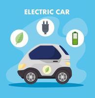auto elettriche, concetto rispettoso dell'ambiente vettore