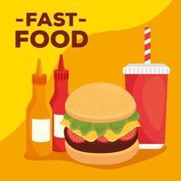 banner di fast food vettore