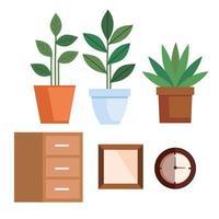 set di icone di arredamento casa al chiuso vettore