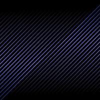 astratto blu metallico linea diagonale pattern su sfondo nero e texture. vettore