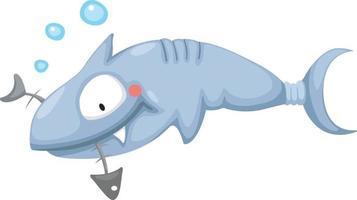 illustrazione di uno squalo vettore