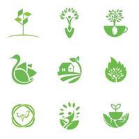 modello di progettazione di logo eco per affari e set di società vettore