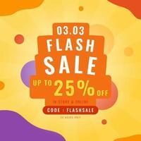 3.3 banner promozionale di vendita flash. modello di design alla moda per pubblicità, social media, affari, annunci di moda, ecc. illustrazione vettoriale. vettore