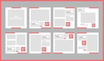 modelli di social media e banner per pubblicità e mezzi promozionali