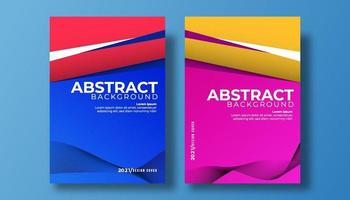 copertina astratta 3d carta arte illustrazione vettoriale set. onda sfondo colorato copertina