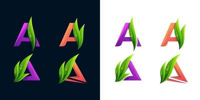 lettera un modello di logo set vettoriale