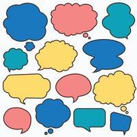 insieme di bolle di pensiero di discorso vettore