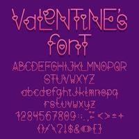 carattere di amore di San Valentino vettore