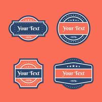 vector set etichette vintage