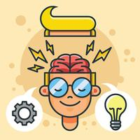 Illustrazione vettoriale di brainstorming