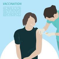 vaccinazione fumetto illustrazione grafica vettoriale