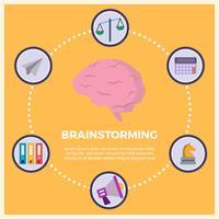 "Illustrazione piana di vettore di ""brainstorming"" di affari"
