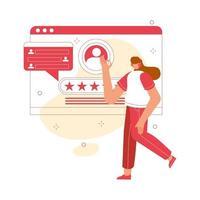 concetto di servizio al cliente. supporto tecnico 24 ore su 24 illustrazione vettoriale per sito Web, app mobili e pagina di destinazione.