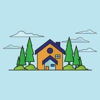 icona di vettore immobiliare piatto
