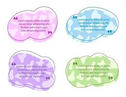 modello di bolla di discorso colorato citazione vettore