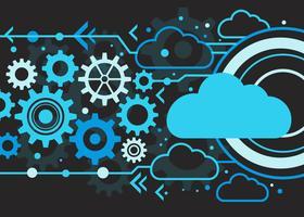 Tecnologia cloud Bakcground vettore