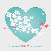 Disegno di cartolina d'auguri di festa della mamma di vettore