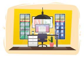 Illustrazione della stanza dei progettisti di vettore