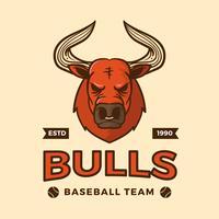 Illustrazione piana di vettore della mascotte di baseball