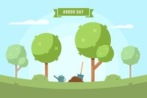 vettore di giorno di albero