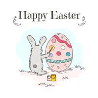 Vettore di coloritura dell'uovo di Pasqua