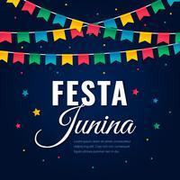 Cartolina d'auguri brasiliana Festa Junina vettore