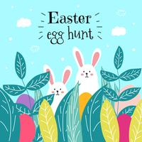 Vettore di caccia dell'uovo di Pasqua