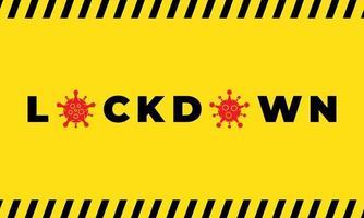poster di blocco di avviso giallo vettore