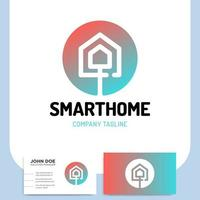 icona di connessione internet casa intelligente e biglietto da visita vettore