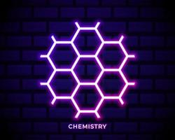 neon esagonale chimica vettore