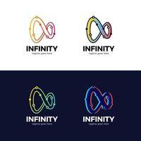 set di logotipo tecnologia infinito vettore