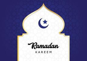 biglietto di auguri in ramadan vettore