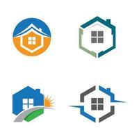 set di immagini del logo della casa