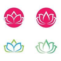 set di immagini del logo del loto di bellezza