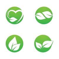 set di immagini del logo foglia