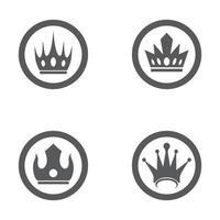 set di icone vettoriali di corona logo modello