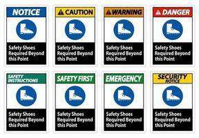calzature di sicurezza necessarie oltre questo punto vettore