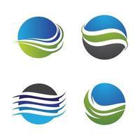 immagini del logo della spiaggia al tramonto vettore