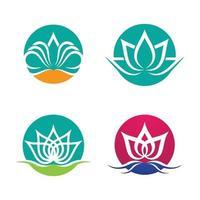 immagini del logo di loto di bellezza