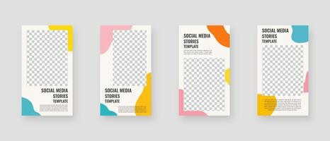 modello di social media. modello di storie di social media modificabile alla moda. mockup isolato. modello di progettazione. illustrazione vettoriale. vettore