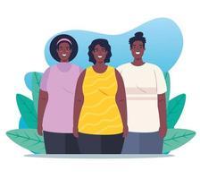 gruppo di donne afro vettore
