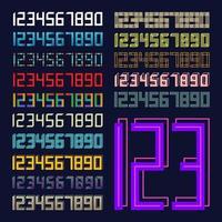 set di caratteri numerici sportivi vettore