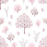 i fiori rosa dolci sbocciano sul modello senza cuciture di primavera